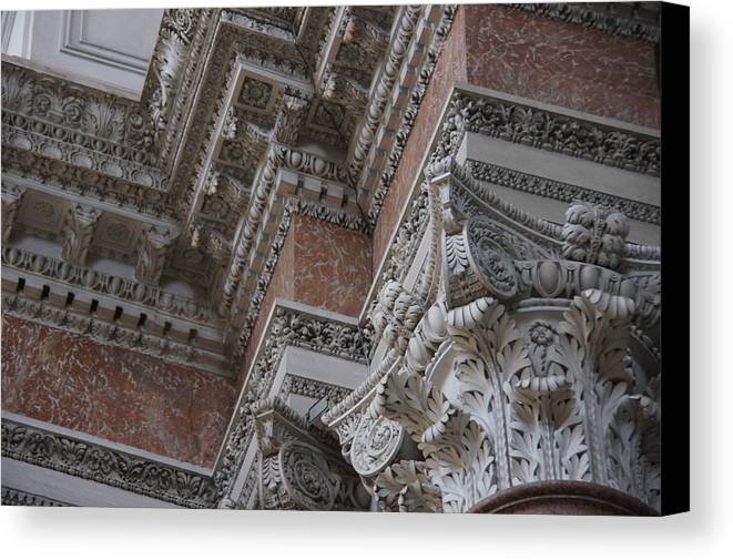 Architecture Canvas Print featuring the photograph Gorgeous Corner by Debi Demetrion