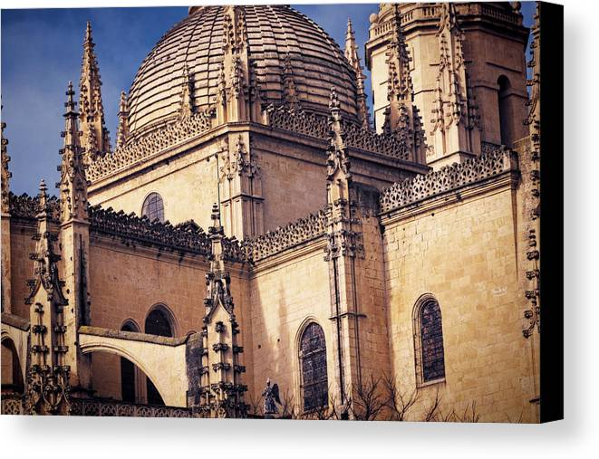 Ancient Canvas Print featuring the photograph Gothic Cathedral by Joan Carroll
