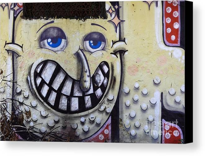 Graffiti Canvas Print featuring the photograph Graffiti Art Buenos Aires 1 by Bob Christopher