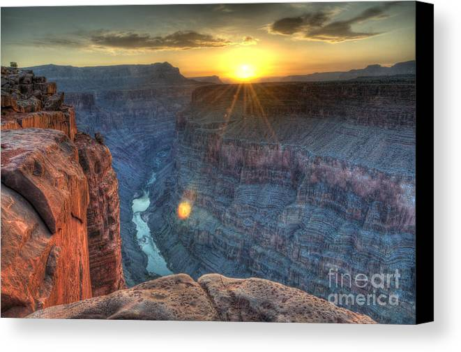 Grand Canyon Canvas Print featuring the photograph Grand Canyon First Light by Bob Christopher