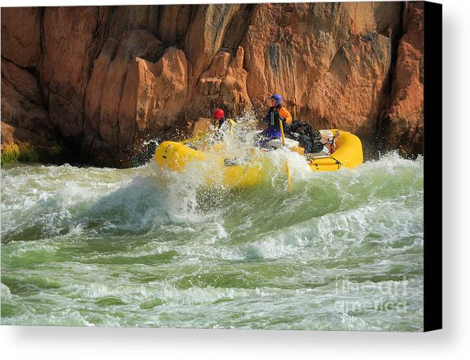 America Canvas Print featuring the photograph Granite Rapids by Inge Johnsson