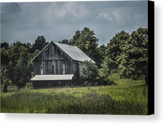 Landscape Canvas Print featuring the photograph Gray by Ashley Burton
