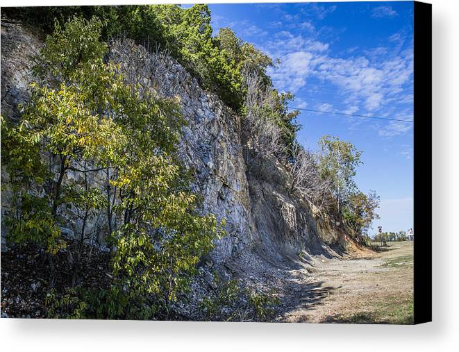 Arbuckle Mountains Canvas Print featuring the photograph Green Sided by Justin Marre