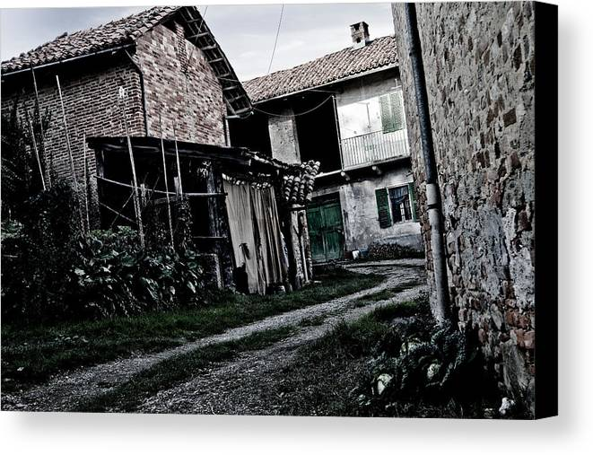 Backyard Canvas Print featuring the photograph Greendoor Road by Michael Bjerg