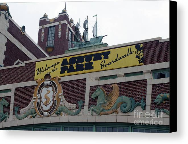 Asbury Park Canvas Print featuring the photograph Greetings From Asbury Park by Ann Addeo