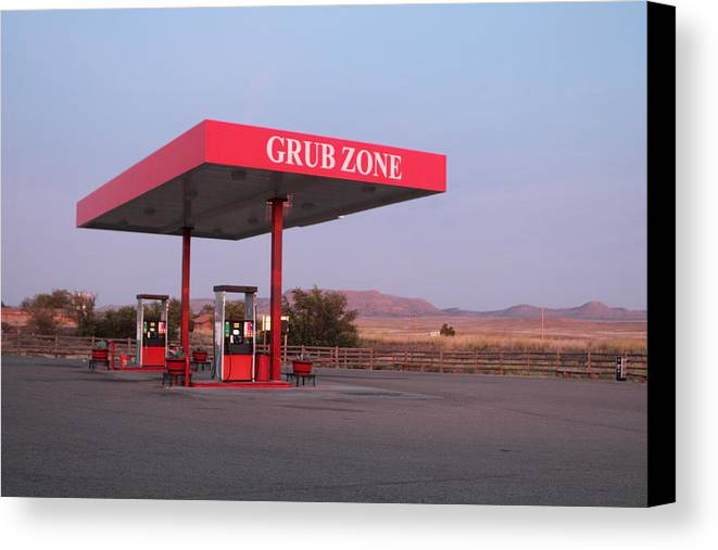 Route 66 Canvas Print featuring the photograph Grub Zone by John Nelson