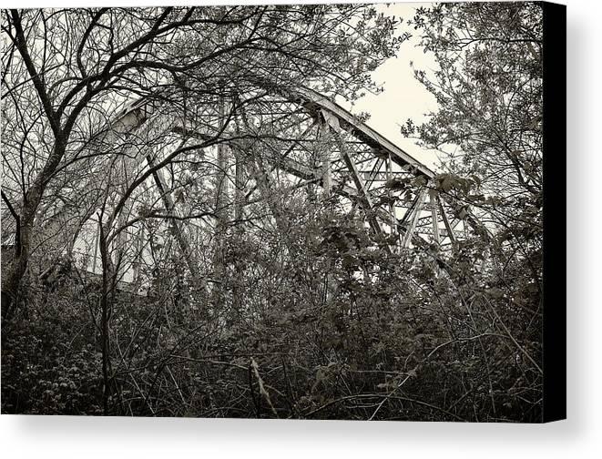 Mad Canvas Print featuring the photograph Hammond Bridge by Jon Exley