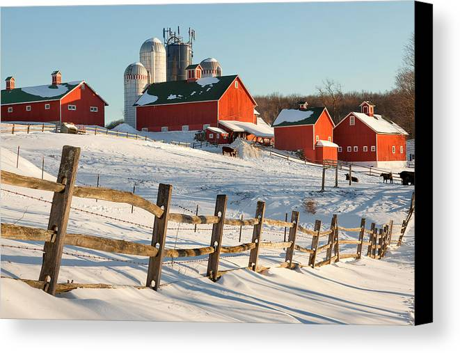 Barnyard Canvas Print featuring the photograph Happy Acres Farm by Bill Wakeley