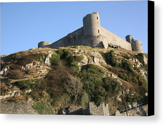 Castles Canvas Print featuring the photograph Harlech Castle by Christopher Rowlands