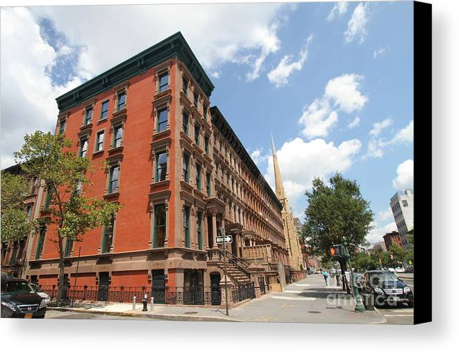 Harlem Canvas Print featuring the photograph Harlem Brownstones by Steven Spak