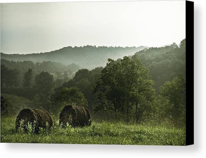 Hay Canvas Print featuring the photograph Hay Bales by Shane Holsclaw