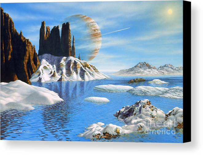 lynette Cook Canvas Print featuring the painting Hd 222582 B And Moon by Lynette Cook