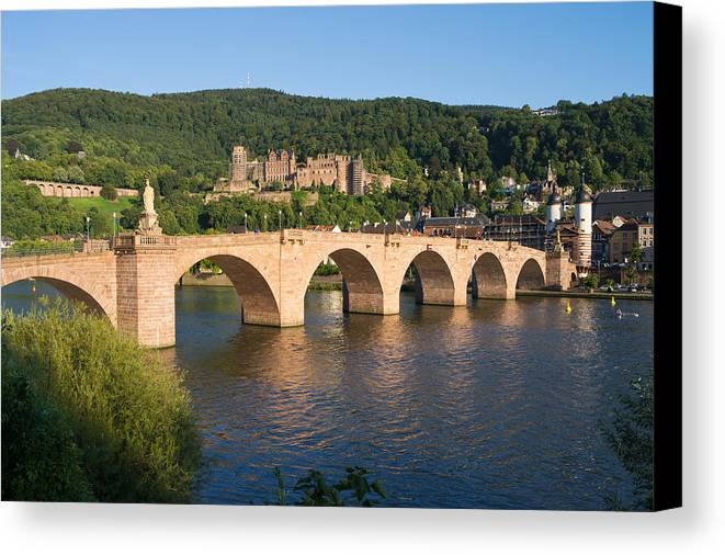 Heidelberg Canvas Print featuring the photograph Heidelberg City View by Katakana Images