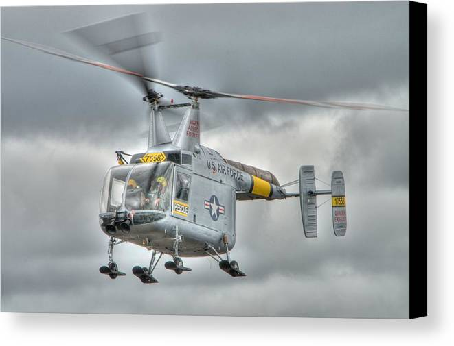 Helicopter Canvas Print featuring the photograph Hh-43 Huskie by Jeff Cook
