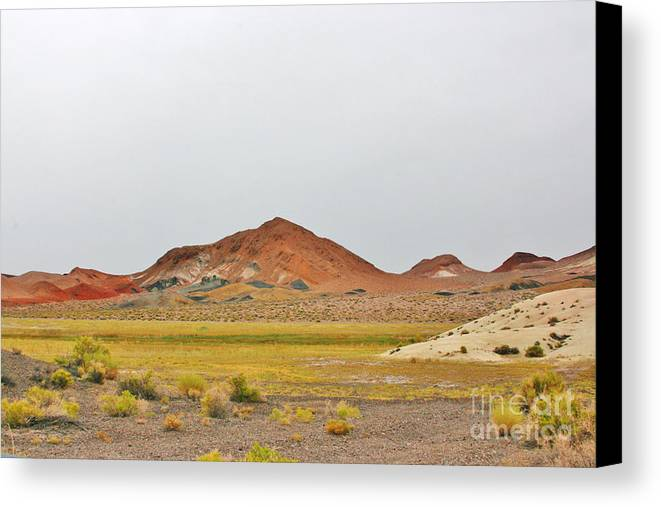 Sky Canvas Print featuring the photograph Hills Of Color by Marilyn Diaz