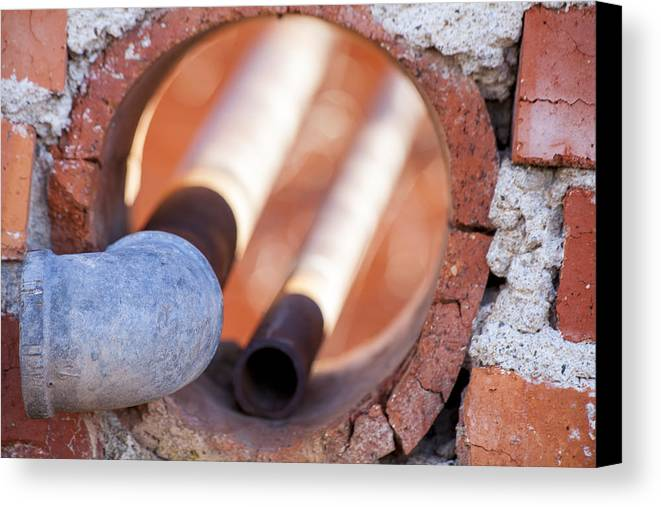 Rust Canvas Print featuring the photograph Hole In The Wall by Fran Riley
