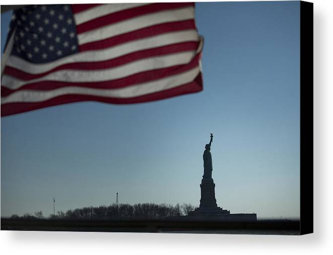 Canvas Print featuring the photograph Home Of The Brave by Mark Milar