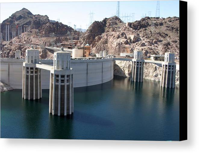 Hoover Dam Canvas Print featuring the photograph Hoover Dam by Kathy Hutchins