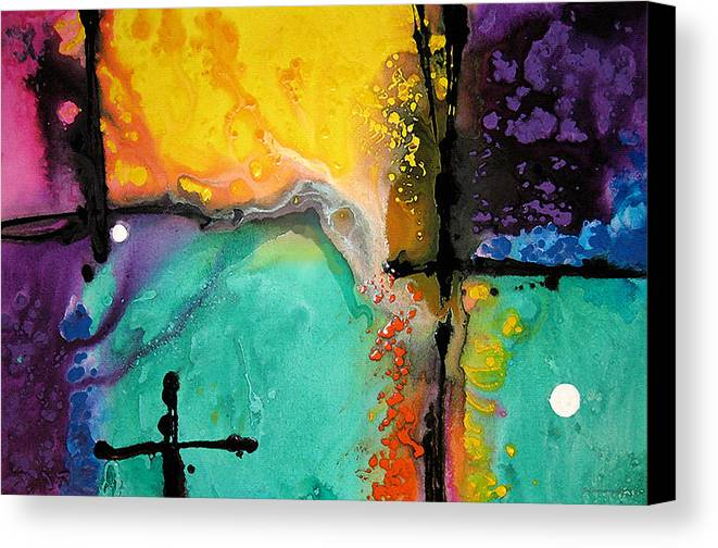 Colorful Canvas Print featuring the painting Hope - Colorful Abstract Art By Sharon Cummings by Sharon Cummings