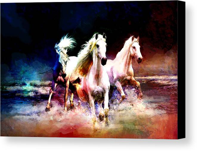 Horse Canvas Print featuring the painting Horse Paintings 002 by Catf