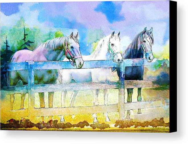 Horse Canvas Print featuring the painting Horse Paintings 008 by Catf
