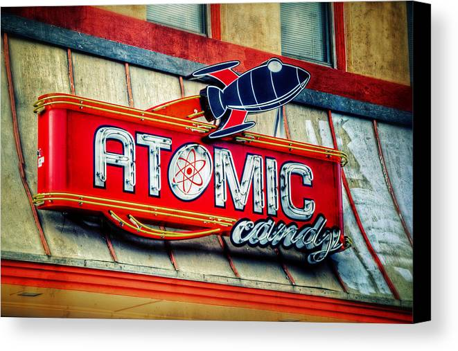 Atomic Canvas Print featuring the photograph Hot Stuff by Joan Carroll