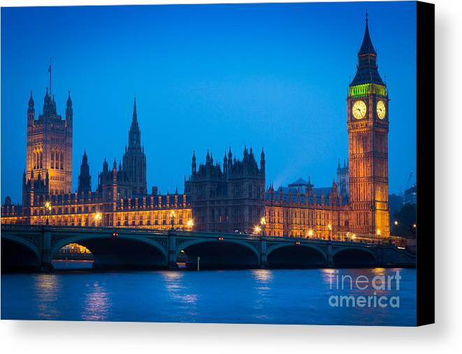 Big Ben Canvas Print featuring the photograph Houses Of Parliament by Inge Johnsson