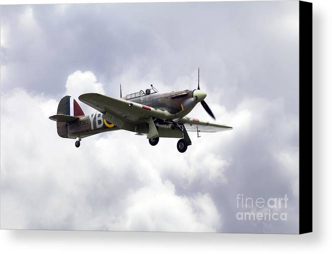 Bbmf Hurricane Canvas Print featuring the digital art Hurricane Lf363 by J Biggadike