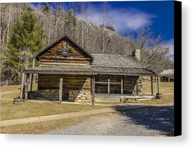 Hutchinson Homestead Stone Mountain North Carolina Canvas Print featuring the photograph Hutchinson Homestead by Stephen Brown