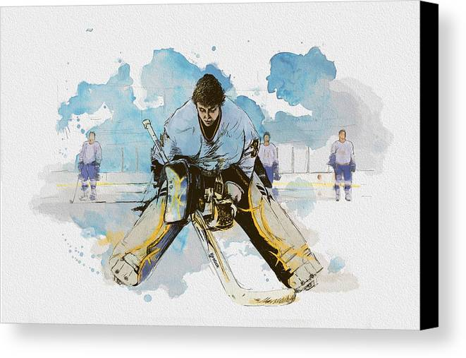 Sports Canvas Print featuring the painting Ice Hockey by Corporate Art Task Force