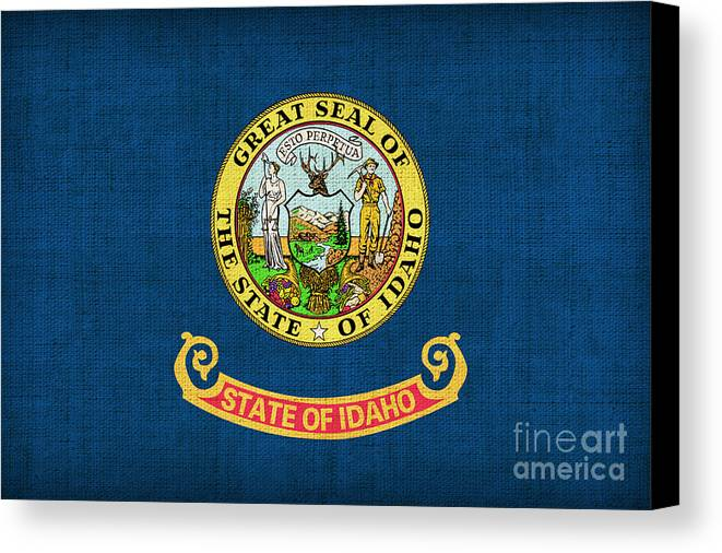 Idaho Canvas Print featuring the painting Idaho State Flag by Pixel Chimp