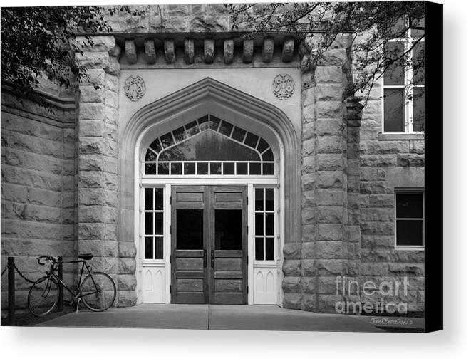 Altgeld Canvas Print featuring the photograph Illinois State University Cook Hall by University Icons
