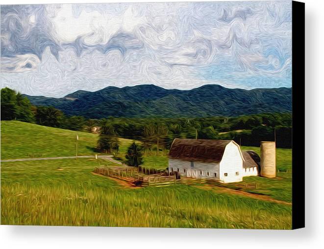 Farm Canvas Print featuring the painting Impressionist Farming by John Haldane