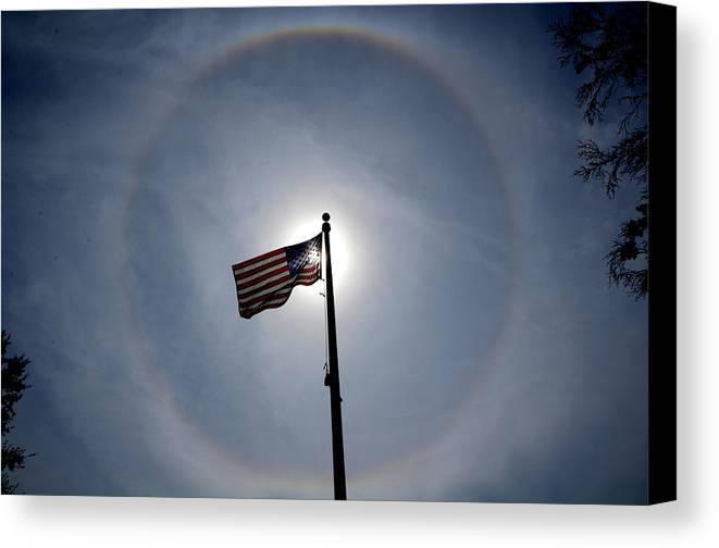 Flag Canvas Print featuring the photograph In God We Trust by Charlotte Schafer