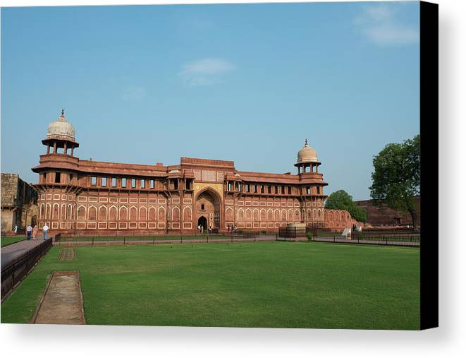 Agra Canvas Print featuring the photograph India, Agra The Red Fort Of Agra This by Cindy Miller Hopkins