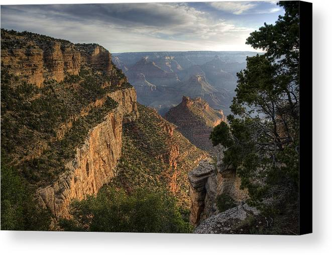 Grand Canyon Canvas Print featuring the photograph Inspirational by Sue Cullumber