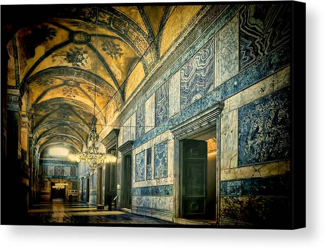 Hagia Sophia Canvas Print featuring the photograph Interior Narthex by Joan Carroll