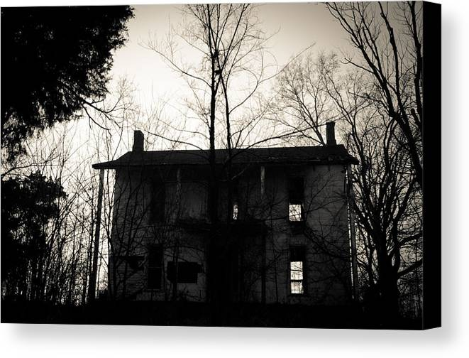 Abandoned Canvas Print featuring the photograph Is Anybody Home by Off The Beaten Path Photography - Andrew Alexander