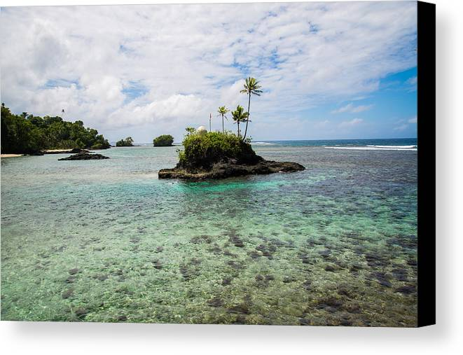 Island Canvas Print featuring the photograph Island In The Sea by S Rodriques