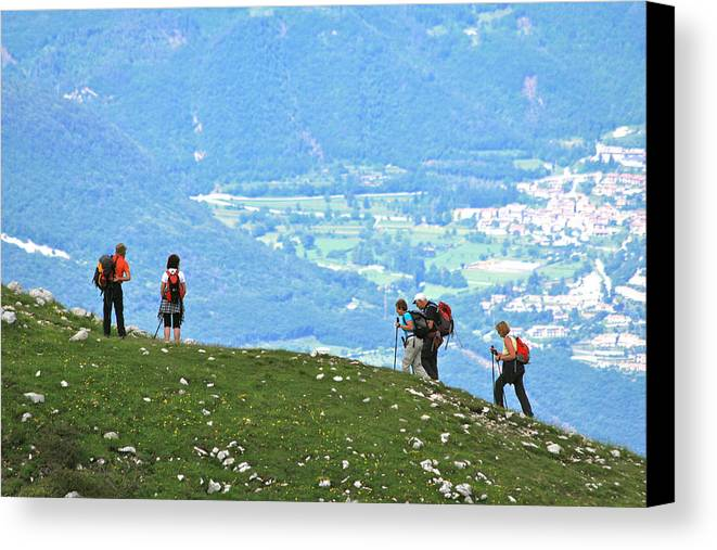 Trek Canvas Print featuring the photograph Italy Trekking by David Miller