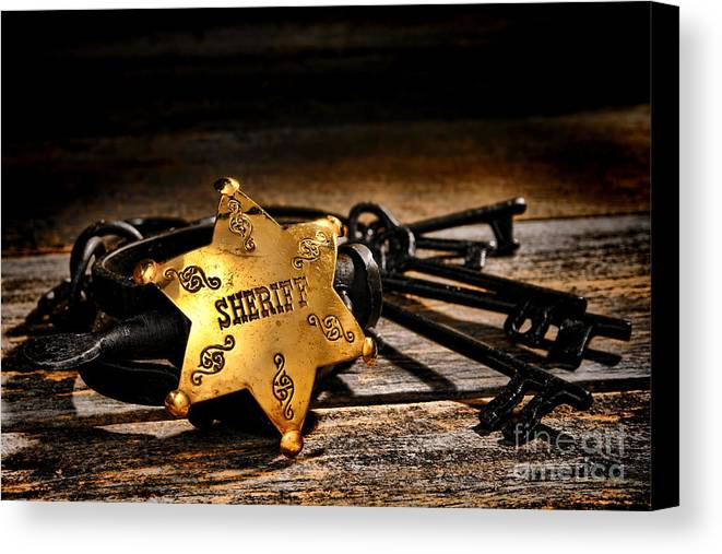 Sheriff Canvas Print featuring the photograph Jailer Tools by Olivier Le Queinec