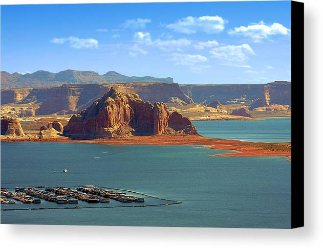 Marina Canvas Print featuring the photograph Jewel In The Desert - Lake Powell by Christine Till