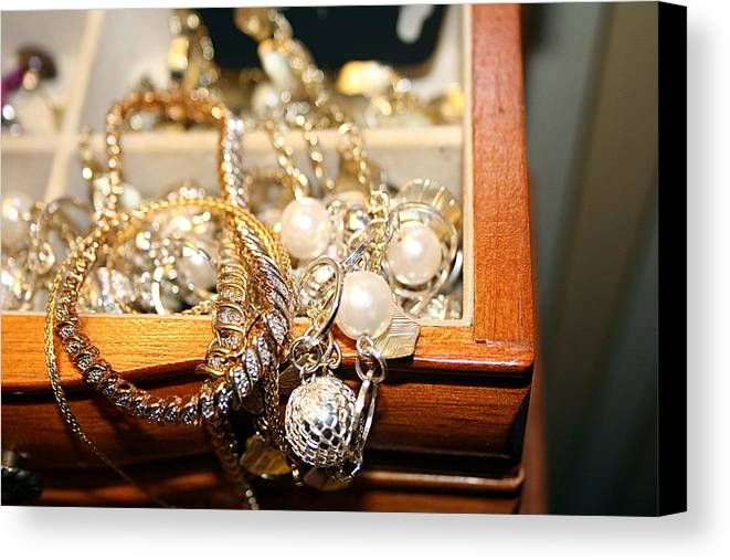 Jewelry Canvas Print featuring the photograph Jewelry Collections by Ester Rogers