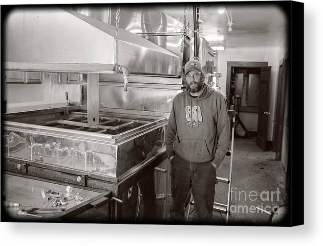 Jimmy Canvas Print featuring the photograph Jimmy At Mt Cube Sugar Farm by Edward Fielding