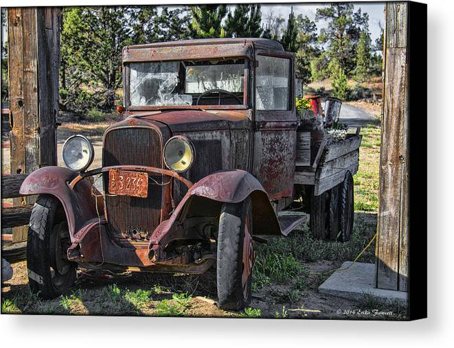 Truck Canvas Print featuring the photograph Jim's Truck by Erika Fawcett