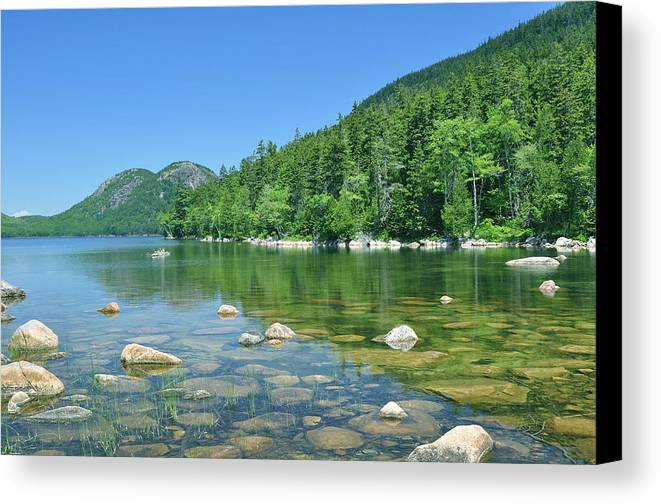 Jordan Pond Canvas Print featuring the photograph Jordan Pond by Svetlana Leahy