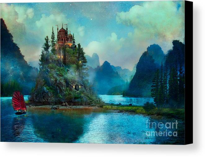 Aimee Stewart Canvas Print featuring the digital art Journeys End by Aimee Stewart