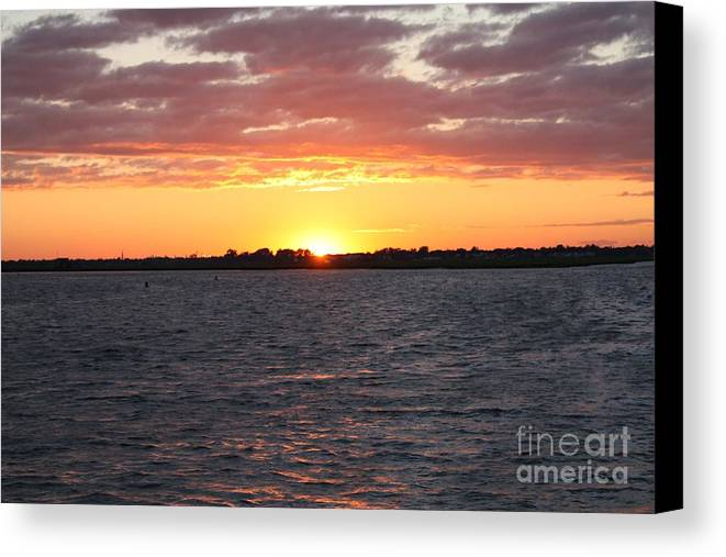 July 4th Sunset Canvas Print featuring the photograph July 4th Sunset by John Telfer