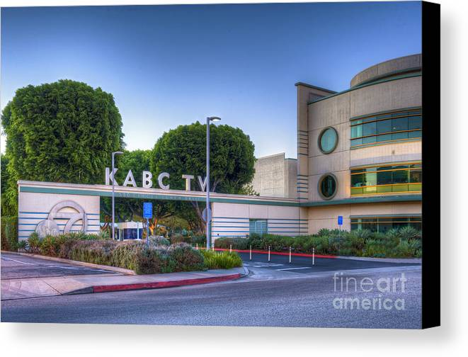 Kabc 7 Canvas Print featuring the photograph Kabc 7 Studio Burbank Glendale Ca by David Zanzinger