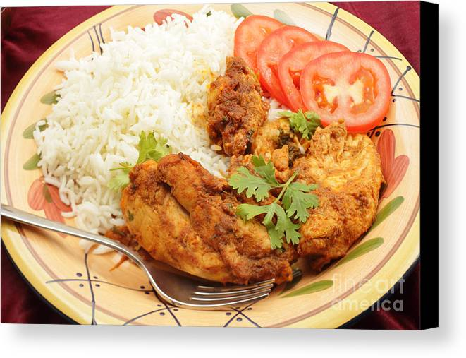 Chicken Canvas Print featuring the photograph Kashmiri Chicken by Paul Cowan